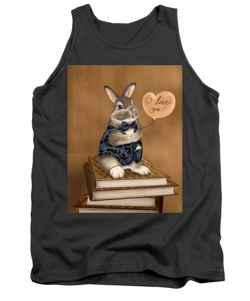 Tank Top featuring the painting I Love You by Veronica Minozzi
