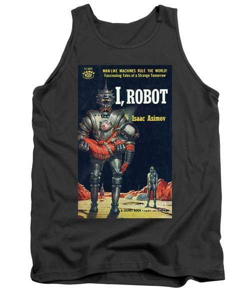 Tank Top featuring the painting I, Robot by Robert Schulz