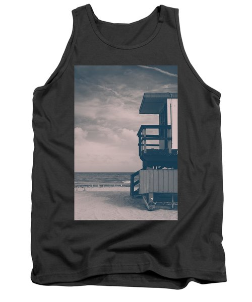 Tank Top featuring the photograph I Was Checkin' On The Surfin' Scene by Yvette Van Teeffelen