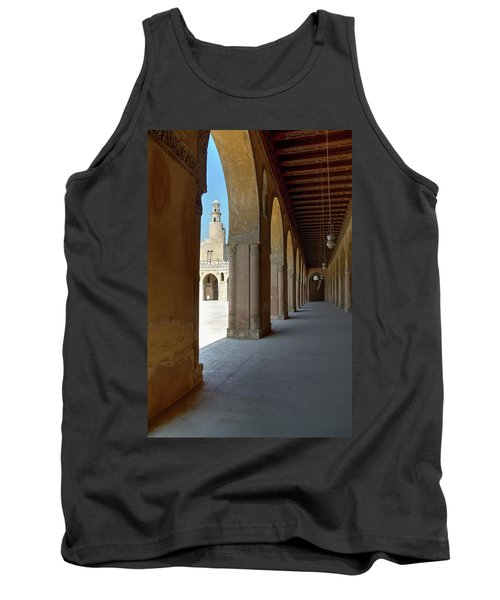 Tank Top featuring the photograph Ibn Tulun Great Mosque by Nigel Fletcher-Jones