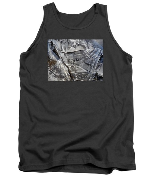 Tank Top featuring the photograph Ice Abstract by Lynda Lehmann