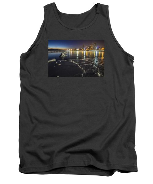 Ice And Chicago Skyline At Dawn  Tank Top