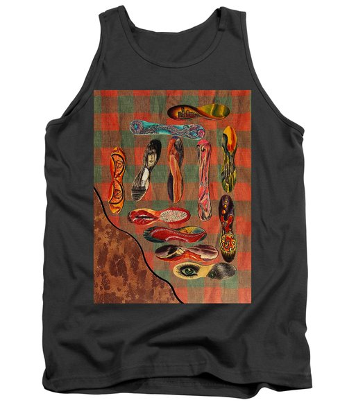 Tank Top featuring the painting Ice Cream Wooden Sticks by Viktor Savchenko