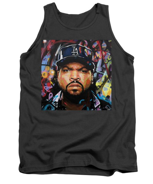 Tank Top featuring the painting Ice Cube by Richard Day