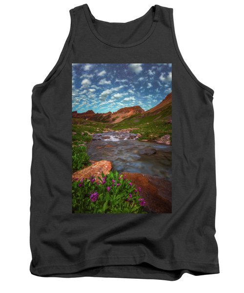Tank Top featuring the photograph Ice Lake Nights by Darren White