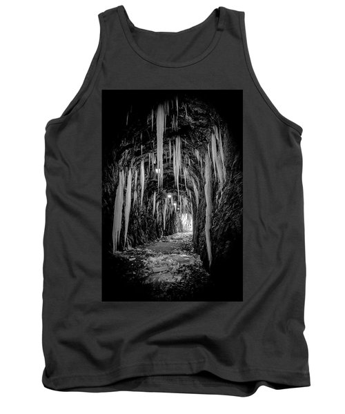 Tank Top featuring the photograph Ice Monochrome by Alan Raasch