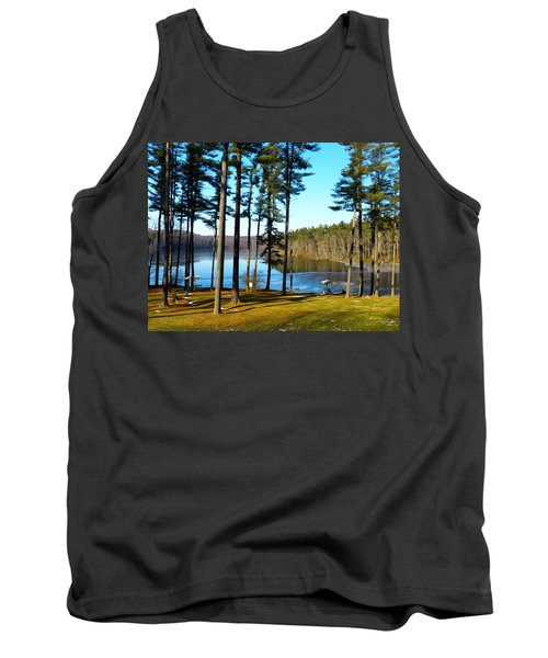 Ice On The Water Tank Top by Donald C Morgan
