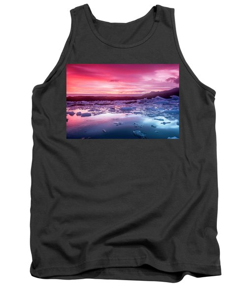 Icebergs In Jokulsarlon Glacial Lagoon Tank Top by Joe Belanger