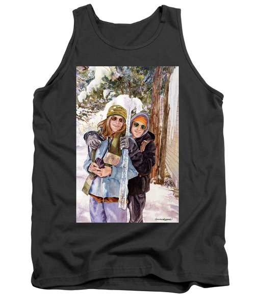 Tank Top featuring the painting Icicle by Anne Gifford