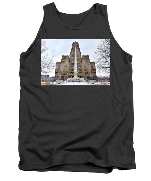 Iconic Buffalo City Hall In Winter Tank Top