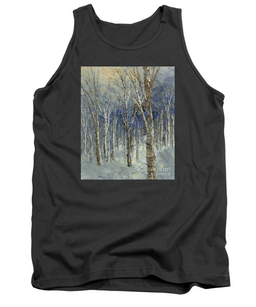 Tank Top featuring the painting Icy Bells by Tatiana Iliina