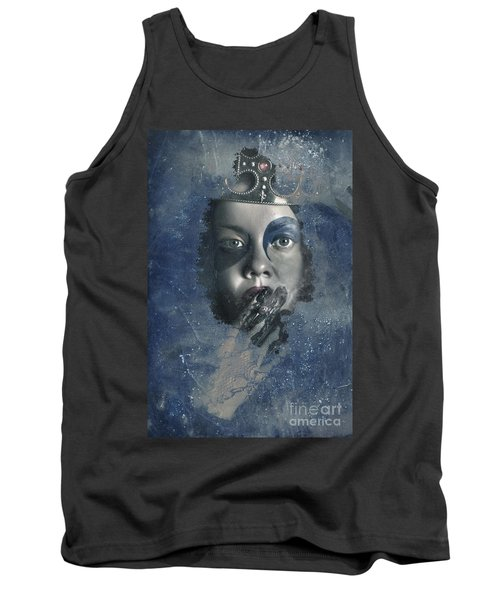 Icy Window Reflection. Wicked Queen Of Winter Tank Top