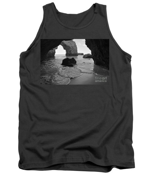 Idyllic Cave In Monochrome Tank Top by Angelo DeVal