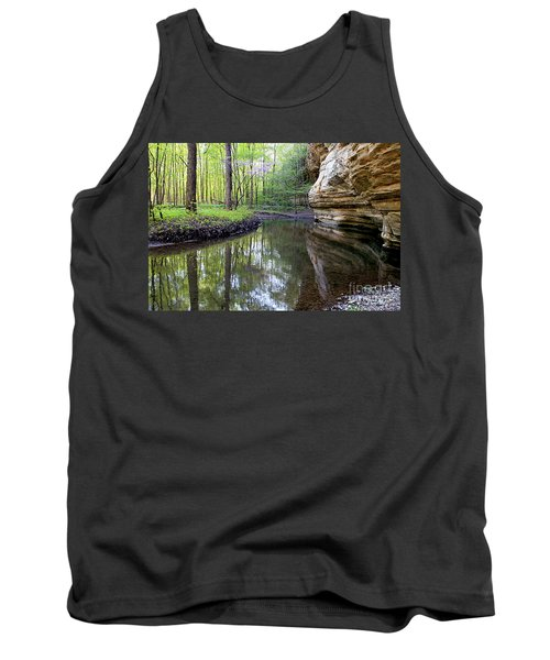 Illinois Canyon In Spring Starved Rock State Park Tank Top