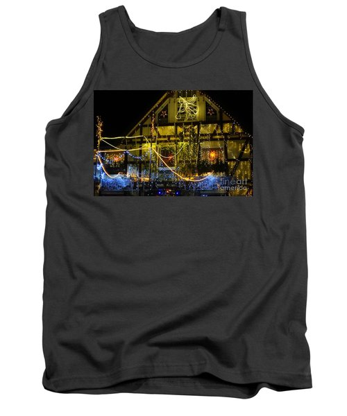 Illuminated Christmas-house Tank Top