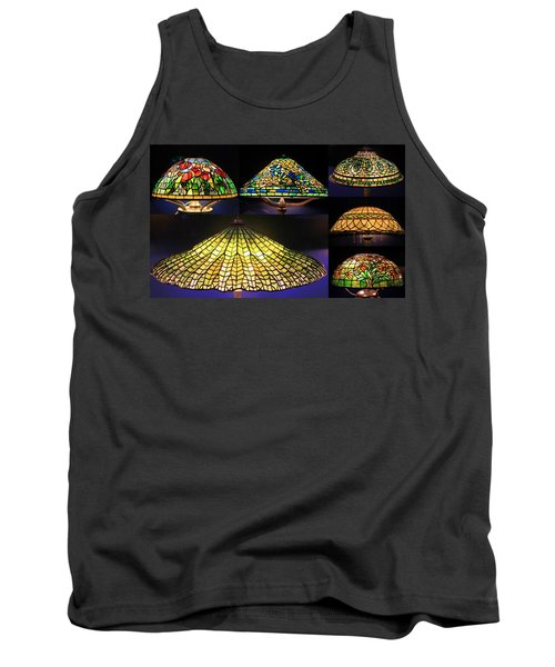 Illuminated Tiffany Lamps - A Collage Tank Top