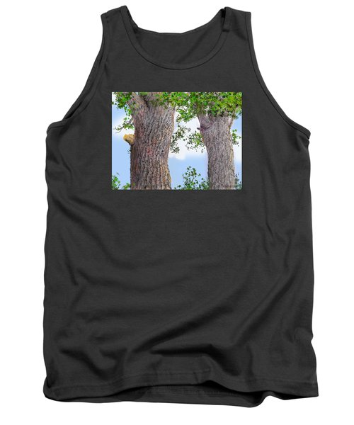 Tank Top featuring the drawing Imaginary Trees by Jim Hubbard