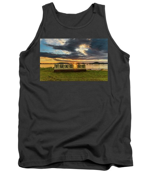 Imagine Sunrise Waterscape Over The Bay Tank Top