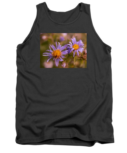 Impressionistic Asters Tank Top