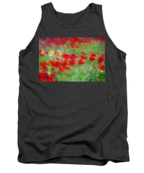 Impressionistic Blossom Near Shderot Tank Top