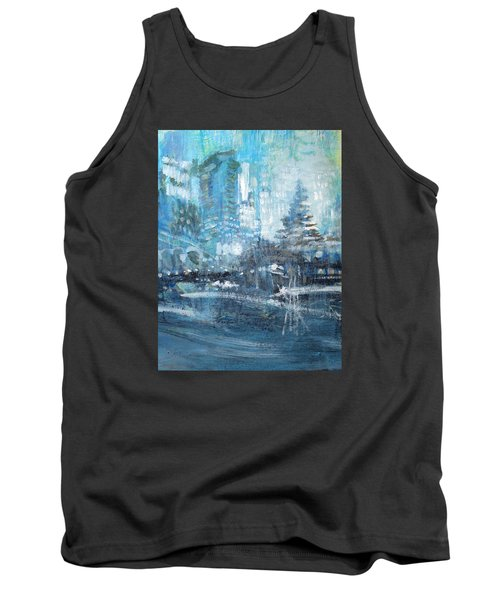 In A Winter Urban Park Tank Top by John Fish