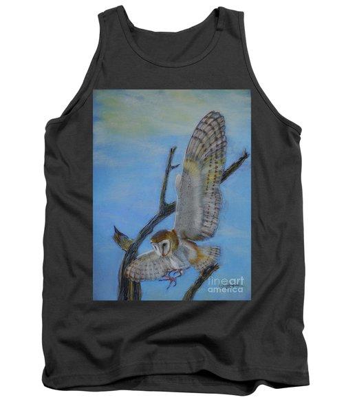 In Flight Barn Owl Tank Top