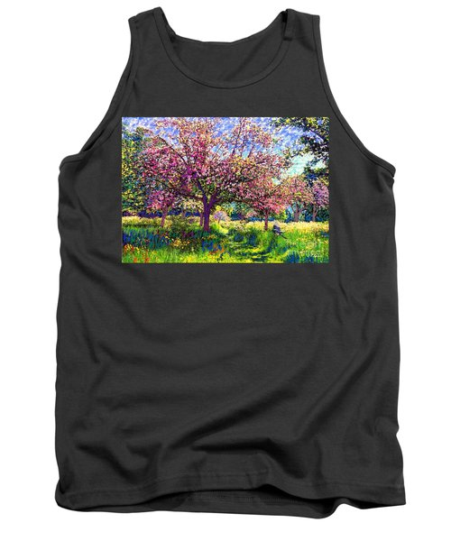 In Love With Spring, Blossom Trees Tank Top by Jane Small