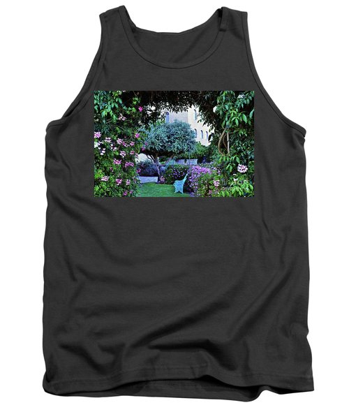 In The Garden At Mount Zion Hotel  Tank Top by Lydia Holly