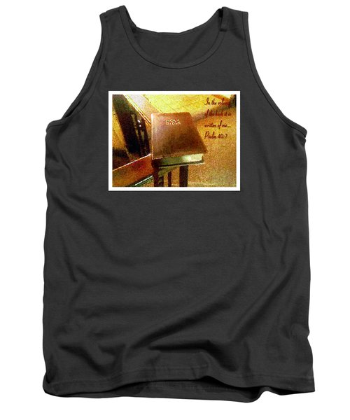 In The Volume Of The Book Tank Top by Glenn McCarthy Art and Photography