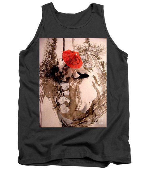 Tank Top featuring the mixed media In The Winter Garden by Nancy Kane Chapman