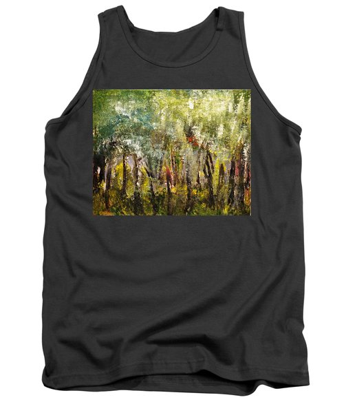 Tank Top featuring the painting In The Woods by Evelina Popilian