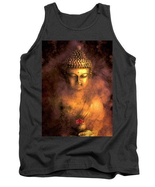 Tank Top featuring the photograph Incense Buddha by Daniel Hagerman