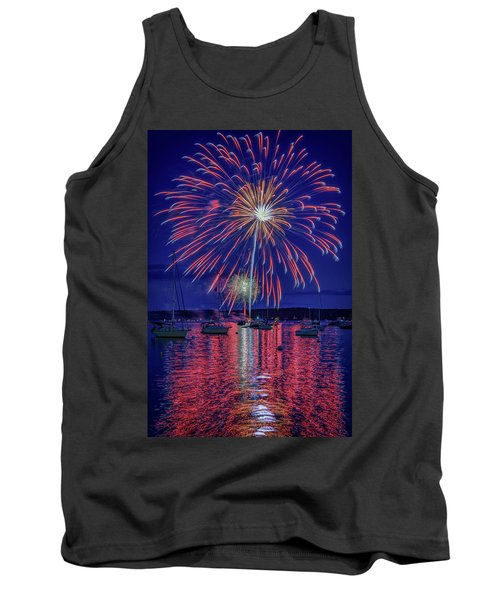 Tank Top featuring the photograph Independence Day In Boothbay Harbor by Rick Berk