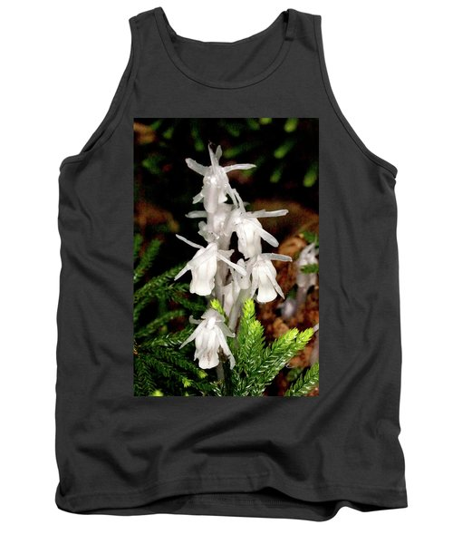 Tank Top featuring the photograph Indian Pipes On Club Moss by Meta Gatschenberger