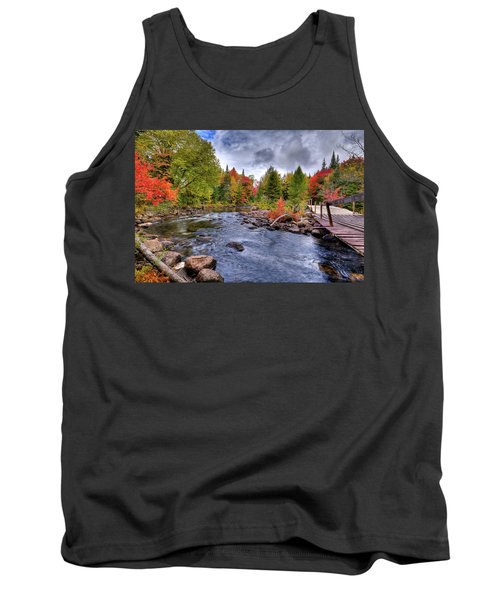 Indian Rapids Footbridge Tank Top by David Patterson