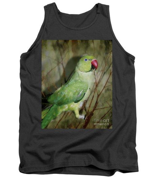 Indian Ringneck Parrot Tank Top