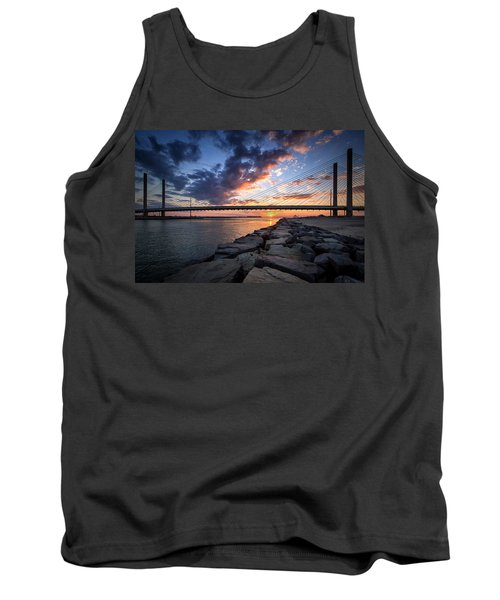 Indian River Inlet And Bay Sunset Tank Top