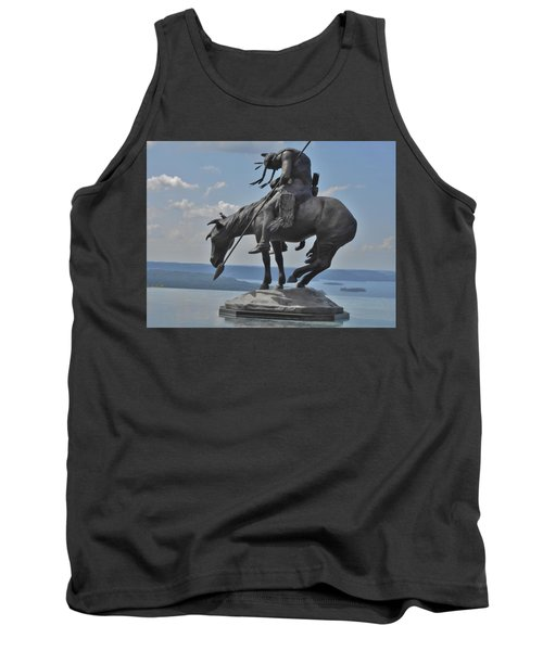 Indian Statue Infinity Pool Tank Top by Julie Grace