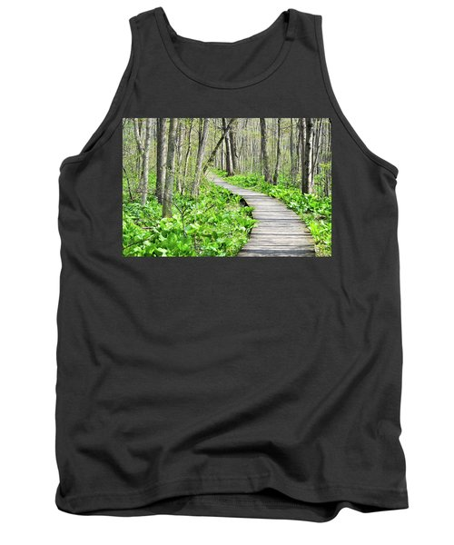 Tank Top featuring the photograph Indiana Dunes Great Green Marsh Boardwalk by Kyle Hanson