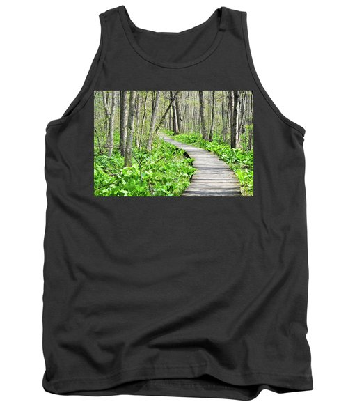 Indiana Dunes Great Green Marsh Boardwalk Tank Top