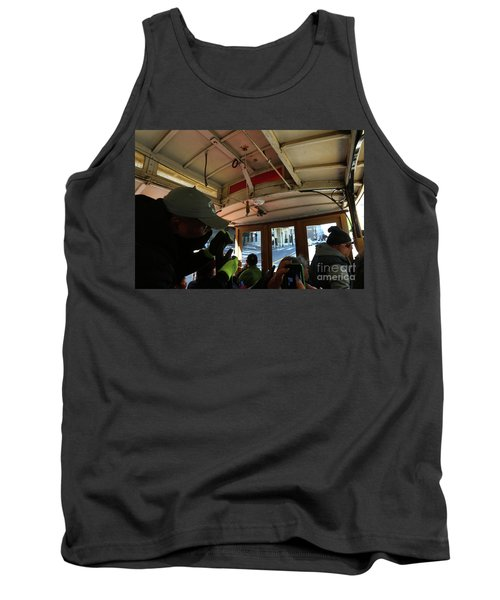 Inside A Cable Car Tank Top by Steven Spak
