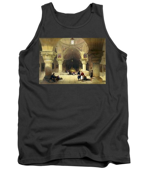 Inside The Church Of The Holy Sepulchre In Jerusalem Tank Top