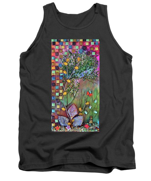 Inside The Garden Wall Tank Top by Donna Blackhall