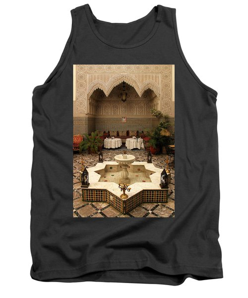Interior Of A Traditional Riad In Fez Tank Top by Ralph A  Ledergerber-Photography