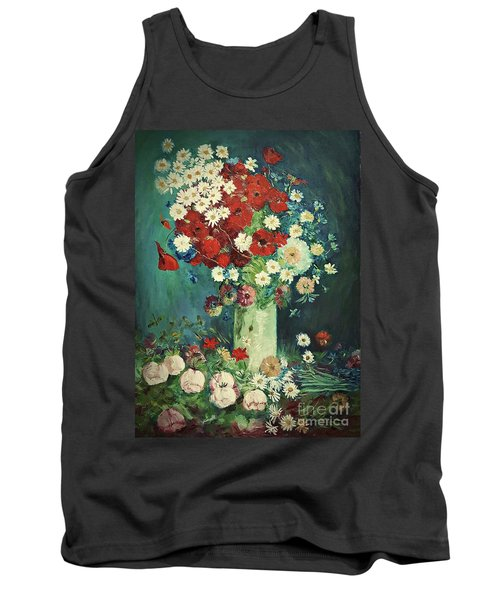 Interpretation Of Van Gogh Still Life With Meadow Flowers And Roses Tank Top