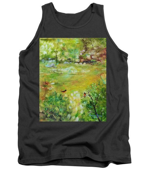 Tank Top featuring the painting Invincible Spring by Judith Rhue