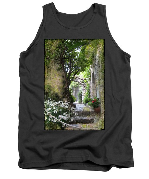 Inviting Courtyard Tank Top by Carla Parris