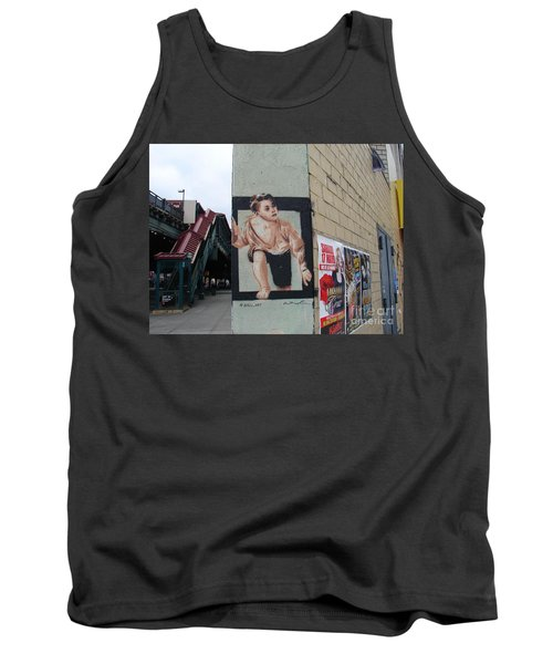 Tank Top featuring the photograph Inwood Graffiti  by Cole Thompson