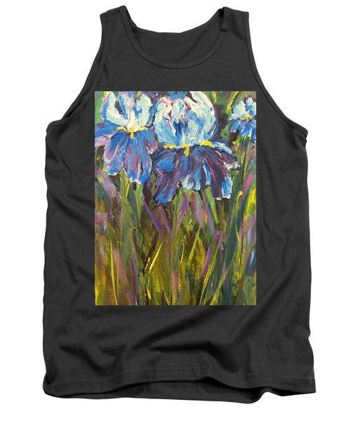 Iris Floral Garden Tank Top