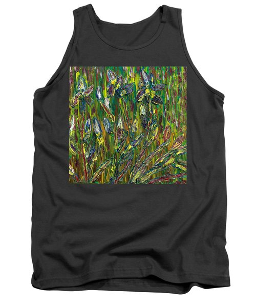 Irises Dance Tank Top by Vadim Levin